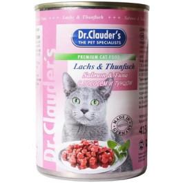 Dr.Clauder's консервы для кошек, тунец и лосось кусочки в соусе 415г