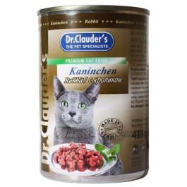 Dr.Clauder's консервы для кошек, кролик 415г