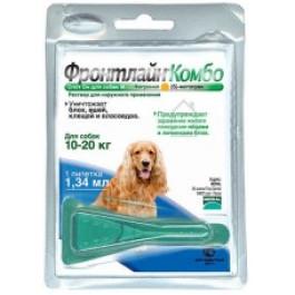 Фронтлайн Комбо Капли для собак 10-20кг от блох и клещей 1,34 мл*1шт