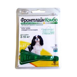 Фронтлайн Комбо Капли для собак  2-10кг от блох и клещей 0,67мл *1шт