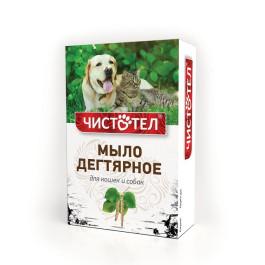 Мыло Чистотел дегтярное от блох для кошек и собак 75г
