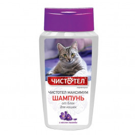 Чистотел Максимум шампунь от блох и клещей для кошек 180мл