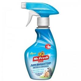 Mr.Fresh 2в1 Ликвидатор запаха для клеток птиц и грызунов 200мл