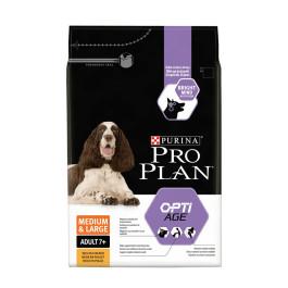 Pro Plan Medium&Large 7+ корм для собак средних и крупных пород старше 7 лет, курица/рис 14кг
