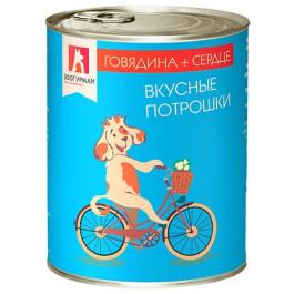 Зоогурман Вкусные потрошки консервы для собак 350г Говядина/Сердце