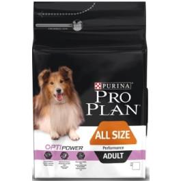 Pro Plan All Sizes Performance корм для активных собак всех пород, курица/рис 14кг