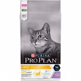Pro Plan LIGHT корм для кошек с избыточным весом, индейка с рисом 1,5кг