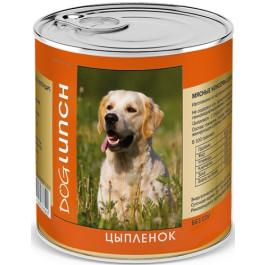 Дог Ланч консервы для собак  Цыплёнок в желе 750г