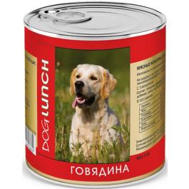 Дог Ланч консервы для собак  Говядина 750г
