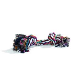 Игрушка для собак Канат с 2-мя узлами разноцветный 125г*28см Beeztees