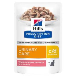 HILL'S C/D консервы для кошек профилактика МКБ, лосось кусочки в соусе 85г пауч
