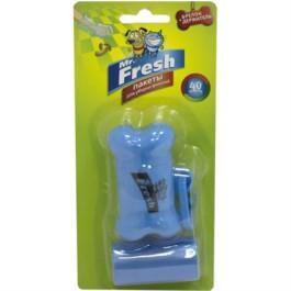 Mr.Fresh Пакеты для уборки фекалий с брелоком-держателем, рулон 40 пакетов