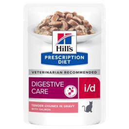 HILL'S I/D консервы для кошек лечение заболеваний ЖКТ, лосось кусочки в соусе 85г пауч