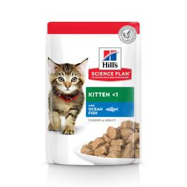 HILL'S Science Plan Kitten консервы для котят Океаническая рыба в соусе 85г пауч