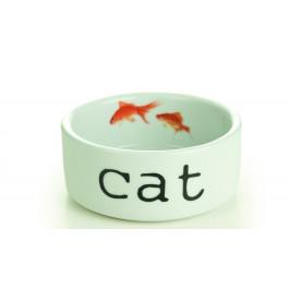Beeztees Миска для кошек керамическая Snapshot 300мл 11,5*4см
