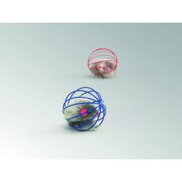 Игрушка для кошек Мышь меховая в металлическом шаре 5,5см Beeztees