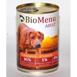 BioMenu консервы для собак Говядина и Ягненок 410г