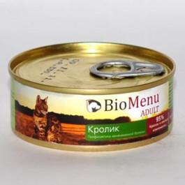 BioMenu консервы для кошек паштет с Кроликом 100г