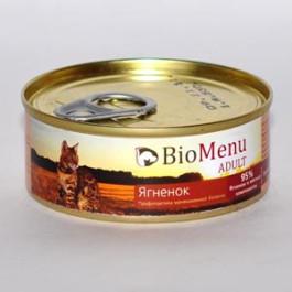 BioMenu консервы для кошек паштет с Ягненком 100г