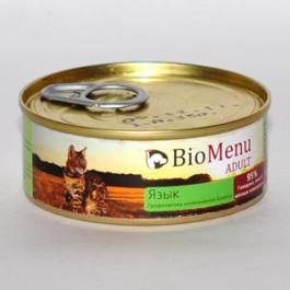 BioMenu консервы для кошек паштет с Языком 100г