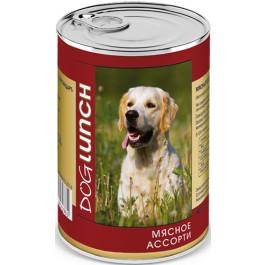 Дог Ланч консервы для собак  Мясное ассорти в желе 410г
