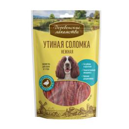 Деревенские лакомства для собак Утиная соломка нежная 90г