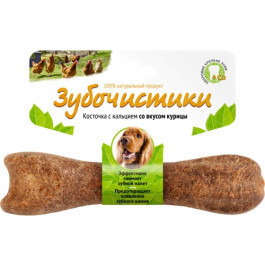 Зубочистики для собак средних пород с кальцием со вкусом Курицы 95г