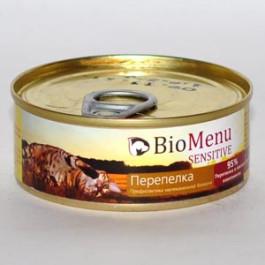 BioMenu Sensitive консервы для кошек паштет с Перепелкой 100г