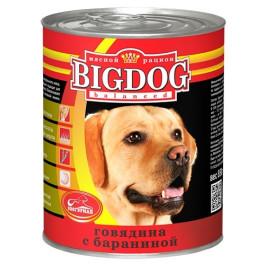 Зоогурман Big Dog консервы для собак 850г Говядина с бараниной
