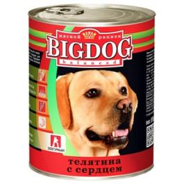 Зоогурман Big Dog консервы для собак 850г Телятина с сердцем