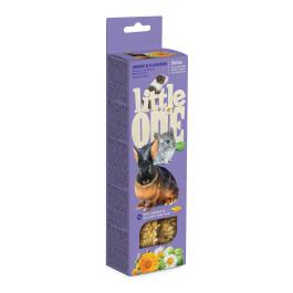 Little One  Палочки для морских свинок, кроликов, шиншилл с Травами и цветами 2шт*60г