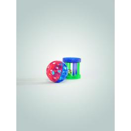 Игрушка для кошек Мяч-погремушка и цилиндр с колокольчиком 4см (набор 2шт) Beeztees