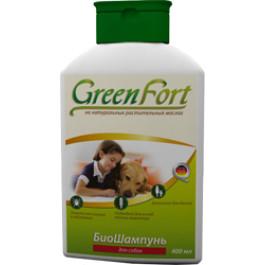 GreenFort БиоШампунь от блох для кошек, собак и кроликов 380мл
