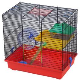 INTERZOO Клетка для грызунов TEDDY LUX I + PL, цветная 43*28*38,5см