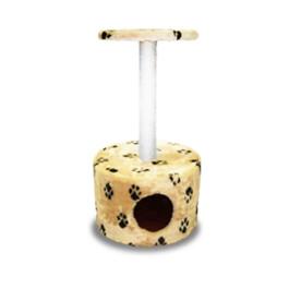Домик-когтеточка круглый 44*44*74м сизаль