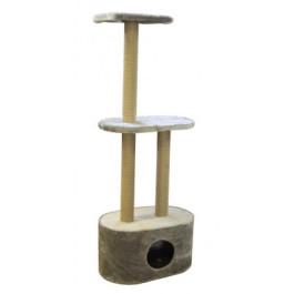 Домик-когтеточка Овальный кабинет с 3мя когтеточками 50*30*130м сизаль