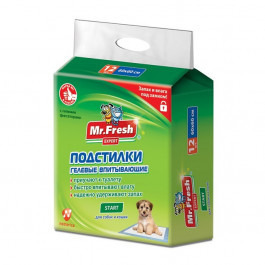 Mr.Fresh Regular Start Подстилки гелевые для приучения к месту 60*60см 12шт