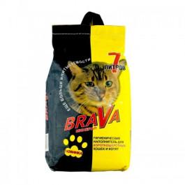 Brava впитывающий наполнитель для гладкошерстных кошек и котят 7л