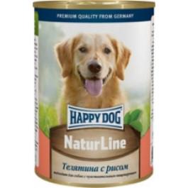 Happy Dog Nature Line консервы для собак Телятина с рисом 400г