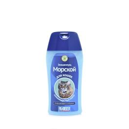 Морской шампунь с кондиционером и хитозаном для кошек длинношерстных пород 180мл АВЗ