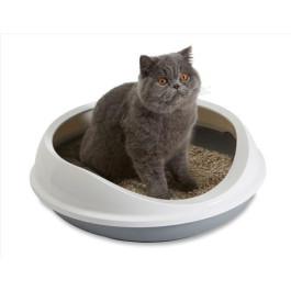 Туалет для кошек SAVIC FIGARO овальный с бортом 55*48*15,5см S0268