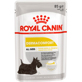 Royal Canin Dermacomfort Care консервы для собак с чувствительной кожей, паштет 85г пауч