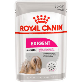 Royal Canin Exigent Care консервы для собак привередливых в питании, паштет 85г пауч