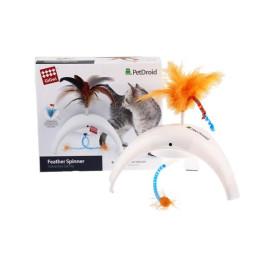 Интерактивная игрушка для кошек Feather Spinner с звуковым чипом GiGwi