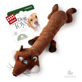 Игрушка для собак плюш Лиса с большой и малой пищалкой 63см GiGwi