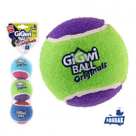 GiGwi Три мяча теннисных с пищалкой 6,5см