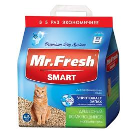 Mr. Fresh SMART наполнитель древесный комкующийся для короткошерстных кошек