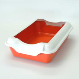 Туалет для кошек Homecat с бортиком 37х27х11,5см, красный