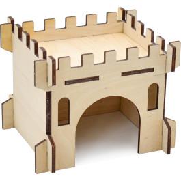 Zooexpress Домик для грызунов Замок малый, фанера 13*11*10 см