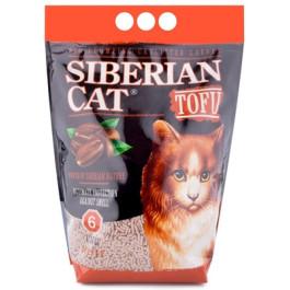 Сибирская кошка Комкующийся наполнитель Тофу  Кофе 6л 2,8кг